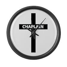 Chaplain/Cross/Inlay Large Wall Clock