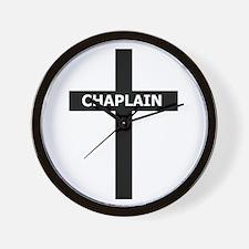 Chaplain/Cross/Inlay Wall Clock