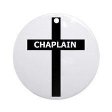 Chaplain/Cross/Inlay Ornament (Round)