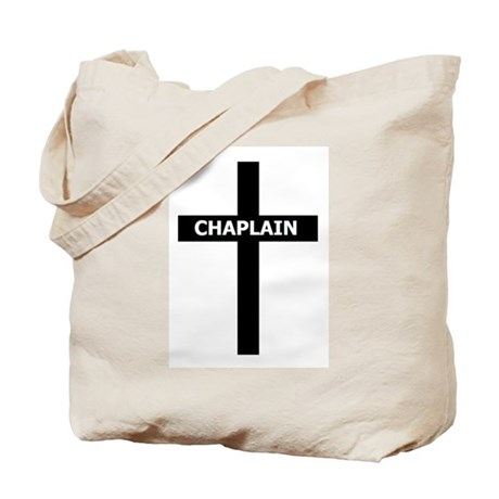 Chaplain/Cross/Inlay Tote Bag