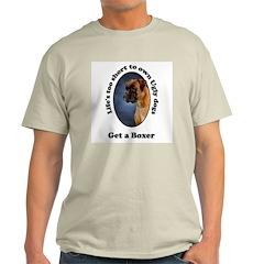 Get a Boxer Ash Grey T-Shirt