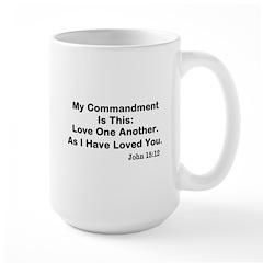 Jesus: Love One Another Large Mug