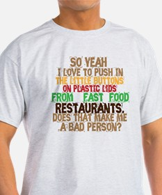 Fast Food Buttons T-Shirt