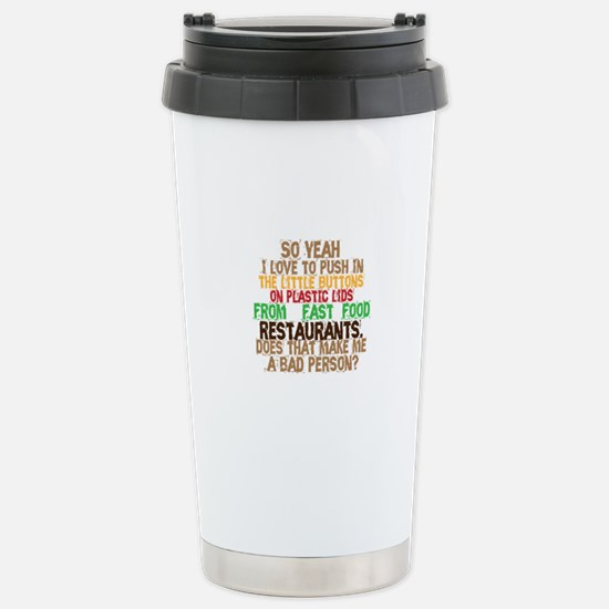 Fast Food Buttons Stainless Steel Travel Mug