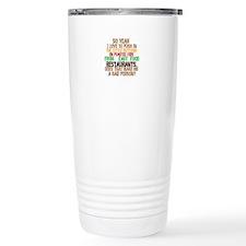 Fast Food Buttons Travel Mug