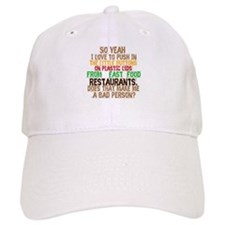 Fast Food Buttons Baseball Cap