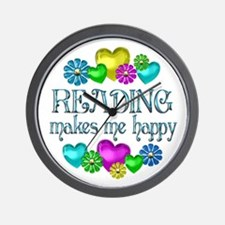 Reading Happiness Wall Clock