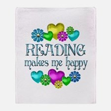 Reading Happiness Throw Blanket