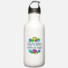 Reading Happiness Water Bottle