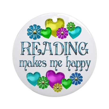 Reading Happiness Ornament (Round)