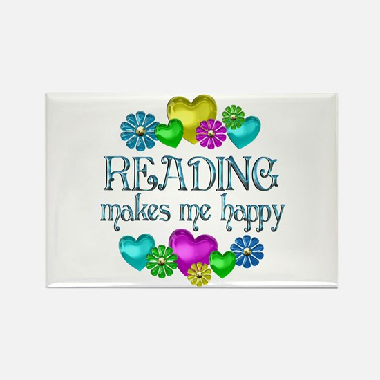 Reading Happiness Rectangle Magnet