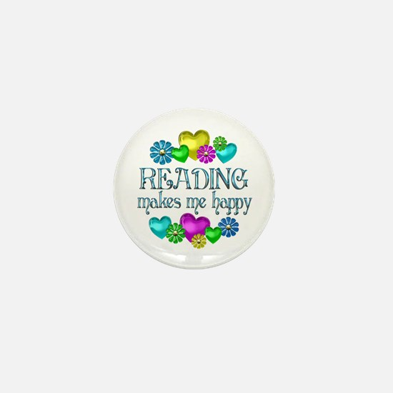 Reading Happiness Mini Button