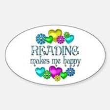 Reading Happiness Sticker (Oval)