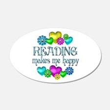 Reading Happiness 22x14 Oval Wall Peel