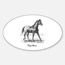 Tiger Horse Sticker (Oval)