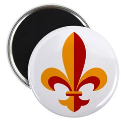 Fleur-de-lis yellow and red Magnet