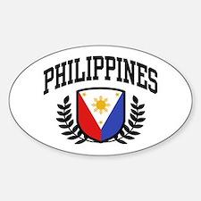 Philippines Flag Sticker (Oval)