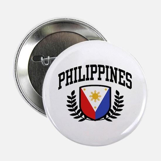 "Philippines Flag 2.25"" Button"