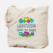 Library Happiness Tote Bag
