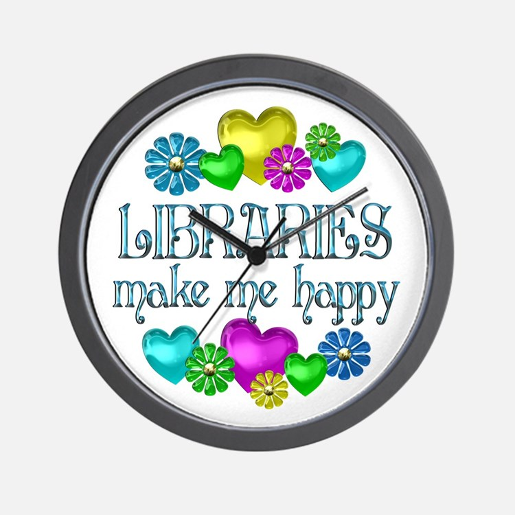 Library Happiness Wall Clock