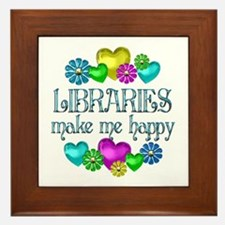 Library Happiness Framed Tile