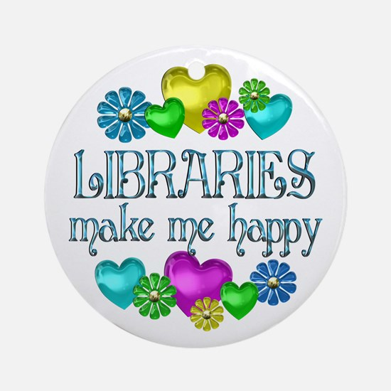 Library Happiness Ornament (Round)