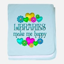 Library Happiness baby blanket