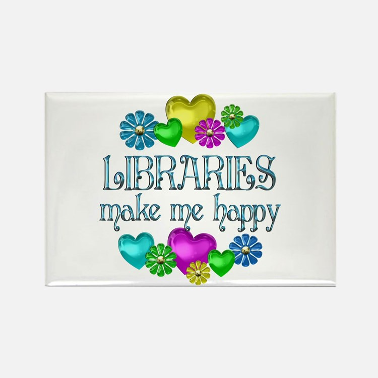 Library Happiness Rectangle Magnet (10 pack)