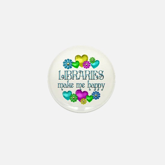 Library Happiness Mini Button
