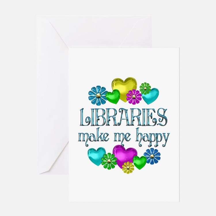 Library Happiness Greeting Card