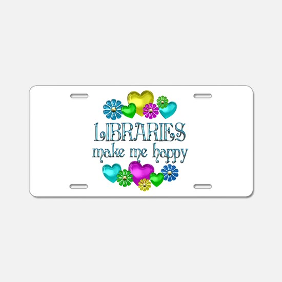 Library Happiness Aluminum License Plate