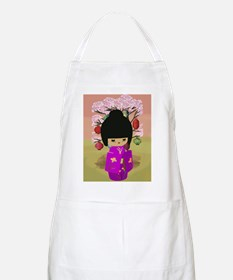 Cute kawaii pink dress kokeshi Apron