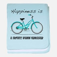 Happiness is a Beach Cruiser baby blanket
