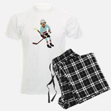 Sock Monkey Ice Hockey Pajamas