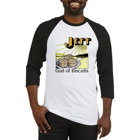 Jeff, God of Biscuits Baseball Jersey
