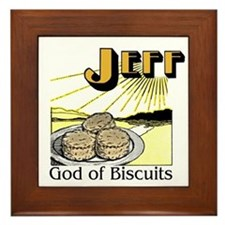 Jeff, God of Biscuits Framed Tile