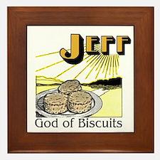 Jeff, God of Biscuits Framed Tile