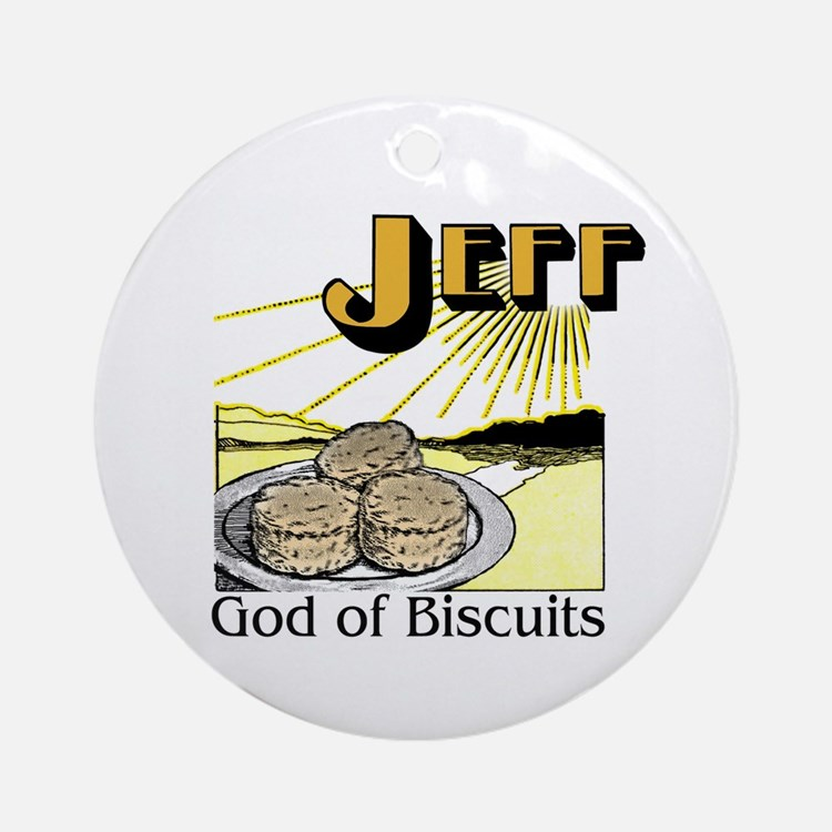 Jeff, God of Biscuits Ornament (Round)