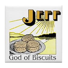 Jeff, God of Biscuits Tile Coaster
