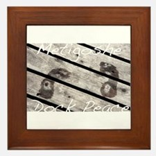 Metigoshe Dock Peace Framed Tile