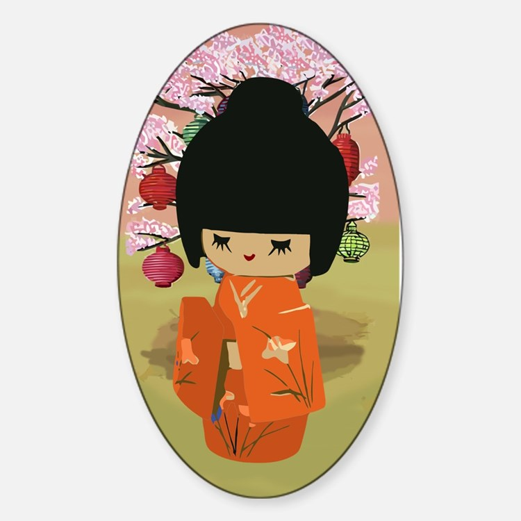 Japan kokeshi doll bumper stickers car stickers decals for Stickers kokeshi