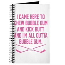 Funny Girls hockey coach Journal