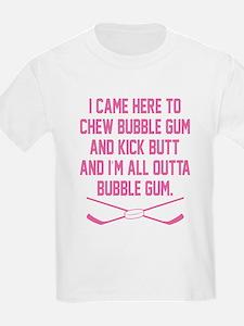 Kick Butt Girls Hockey T-Shirt