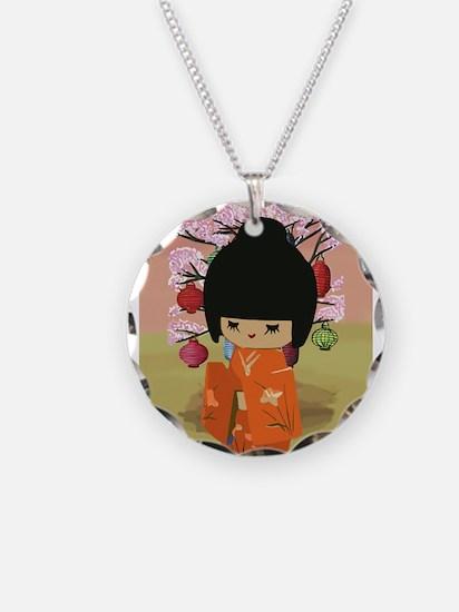 cute kawai kokeshi doll Necklace