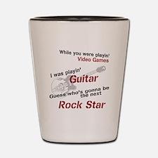 Playin' Guitar Shot Glass