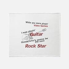 Playin' Guitar Throw Blanket