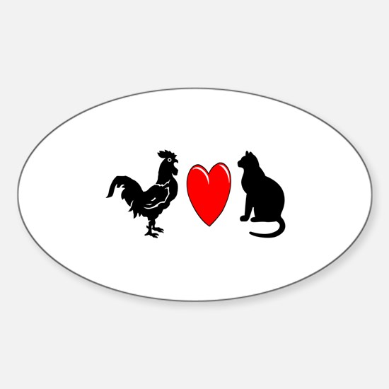Cock Loves Pussy Oval Stickers
