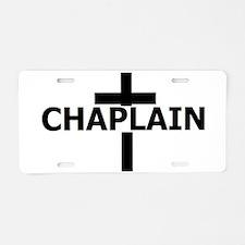 Unique Chaplain Aluminum License Plate