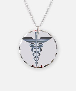 Diabetes Medical Alert Rod of Necklace Circle Char