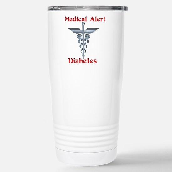Diabetes Medical Alert Rod of Stainless Steel Trav